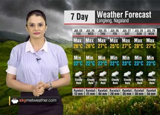 Weather Forecast for Nagaland from July 23 to July 29