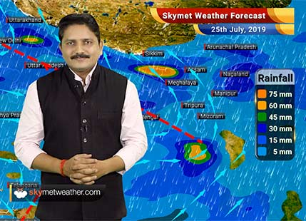 Weather Forecast for July 25: Heavy rains in Delhi, Mumbai, Kolkata, good rains in Uttar Pradesh