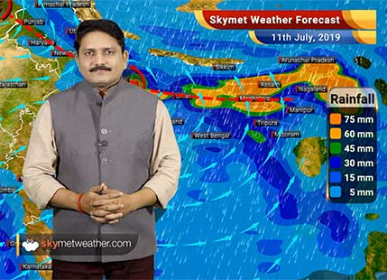 Weather Forecast for July 11: Flooding rains in foothills of Uttar Pradesh, Bihar and Assam, dry weather in Delhi