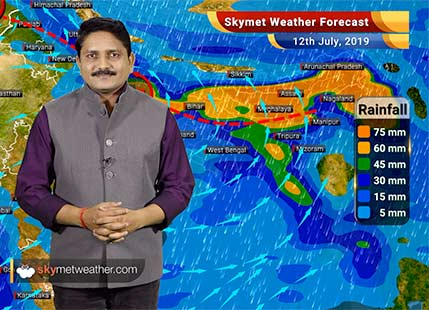 Weather Forecast for July 12: Flooding rain in UP and Bihar, Monsoon to remain week over Delhi, Mumbai and Chennai