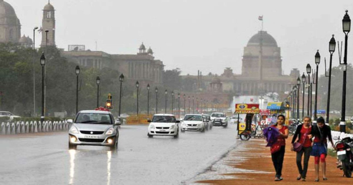 monsoon rain in Delhi