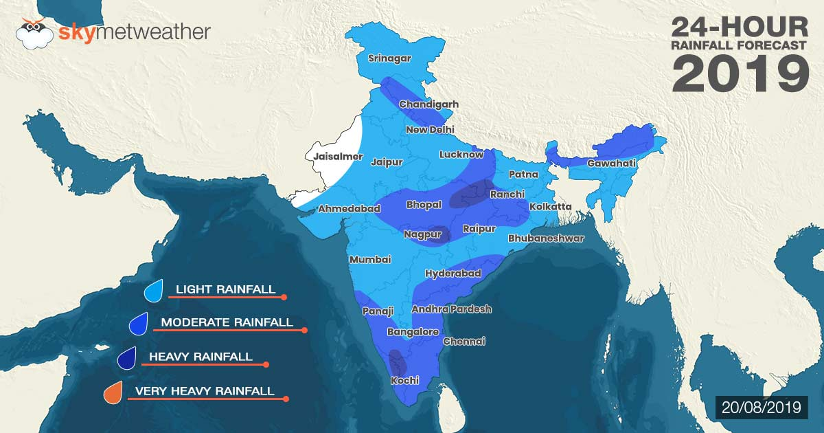 Southwest Monsoon forecast for August 20
