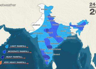 Southwest Monsoon forecast for August 22