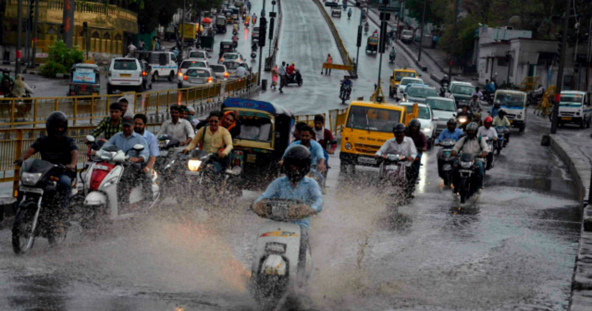 Monsoon rains in Central India