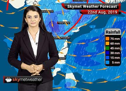 Weather Forecast Aug 22: Moderate rains in Madhya Pradesh, Uttar Pradesh with revival of Monsoon rains in Kerala