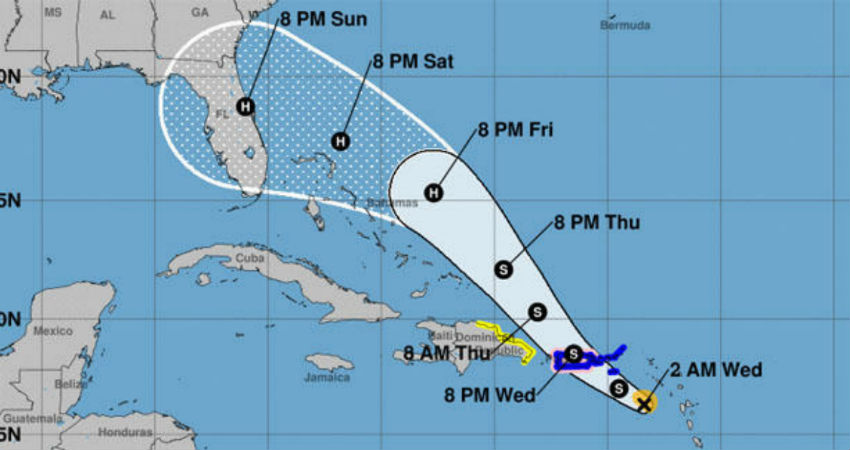 Tropical Storm Erin forms as Dorian takes aim at Puerto Rico