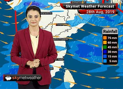 Weather Forecast Aug 28: Moderate Rains in Kerala, Coastal Karnataka, Ujjain, Udaipur and parts of Gujarat