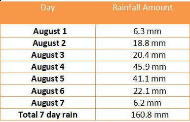 Pune rain table