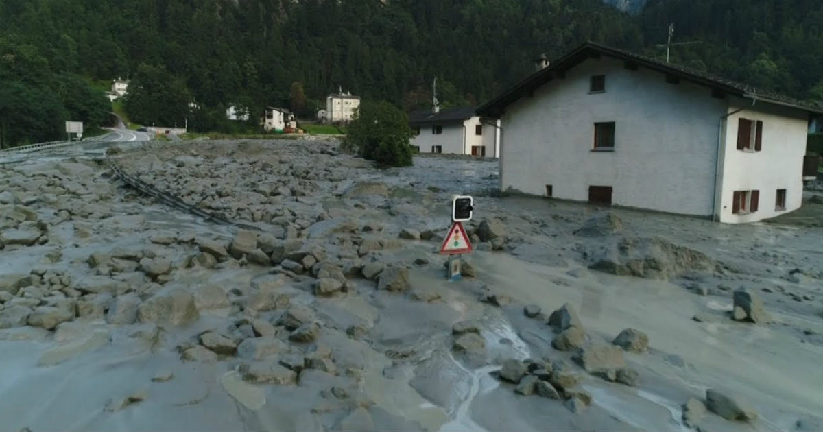 Torrential rains in Swiss Alps