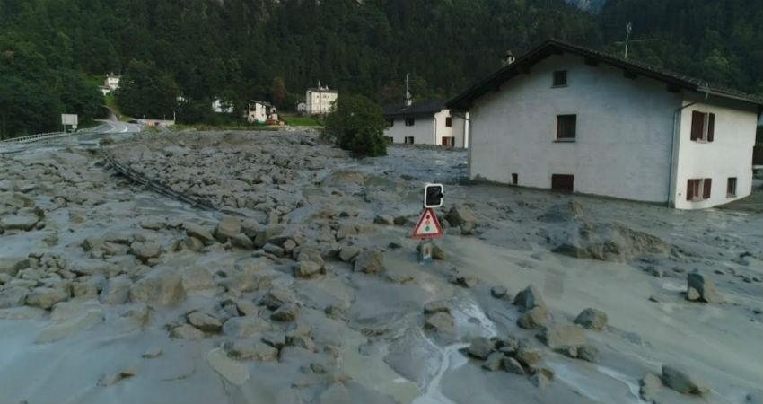 Torrential rains in Swiss Alps