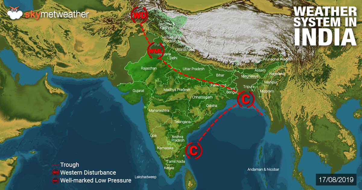 Weather Forecast for August 18 Across India