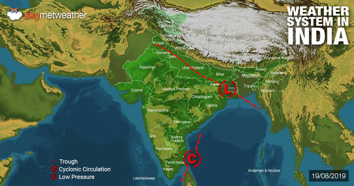Weather Forecast for August 20 Across India