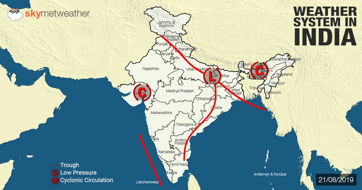 Weather Forecast for August 22 Across India
