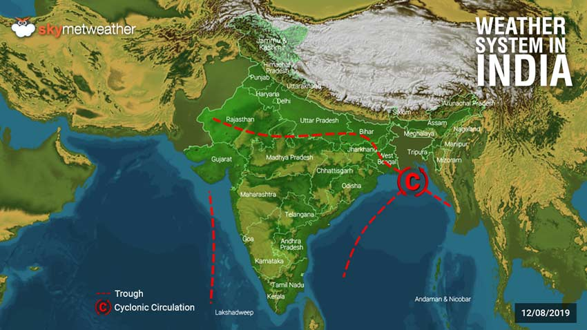 Hindi] Weather forecast for August 12, across India