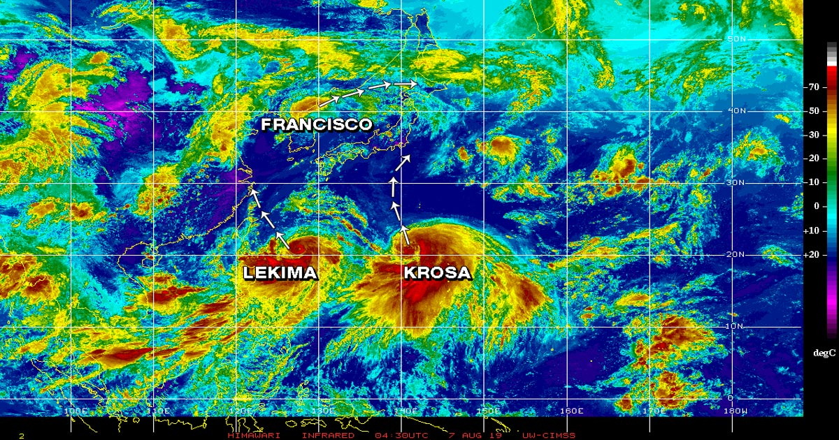 Tropical Storm in the Pacific