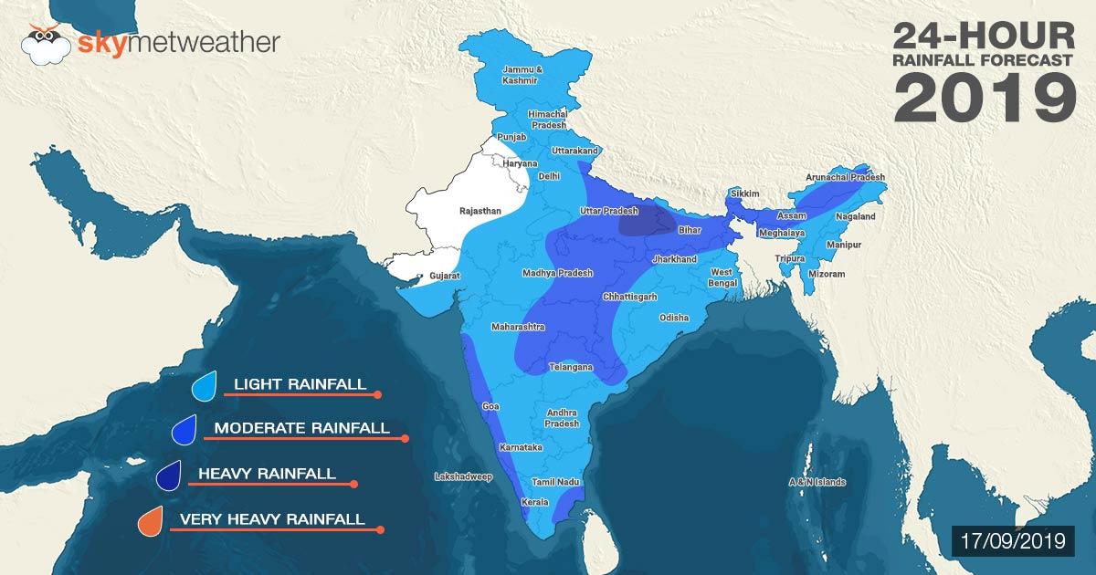 Southwest Monsoon forecast for September 17