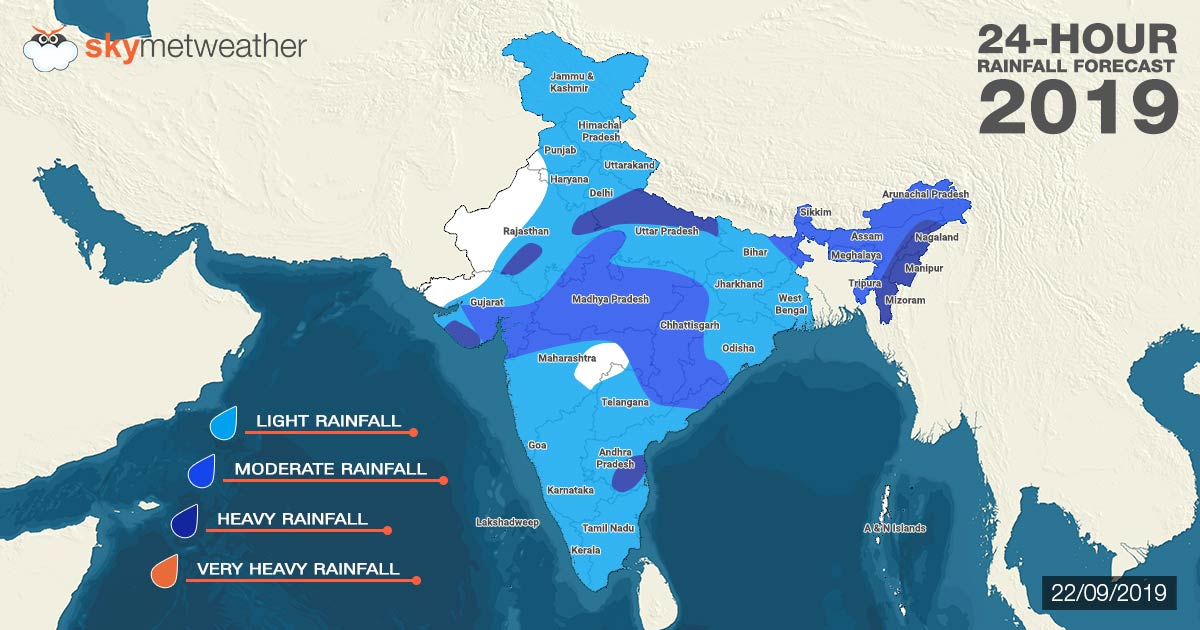Southwest Monsoon forecast for September 22