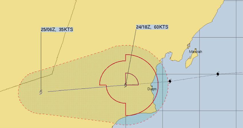 Cyclone Hikaa Oman