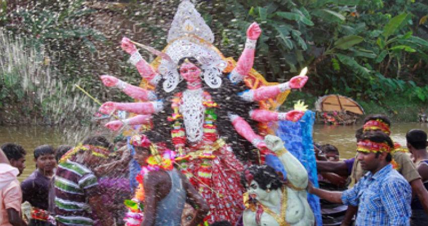 Durga Puja rains