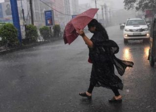 Rain in Tamil Nadu and Kerala