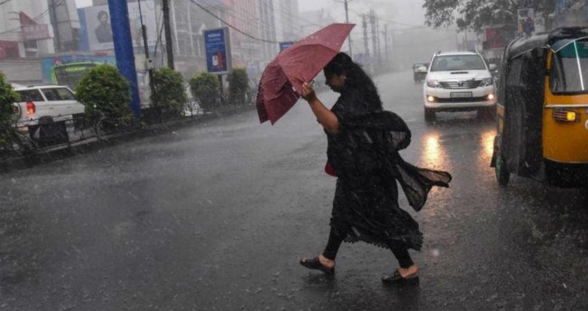 Rain in Tamil Nadu and Kerala