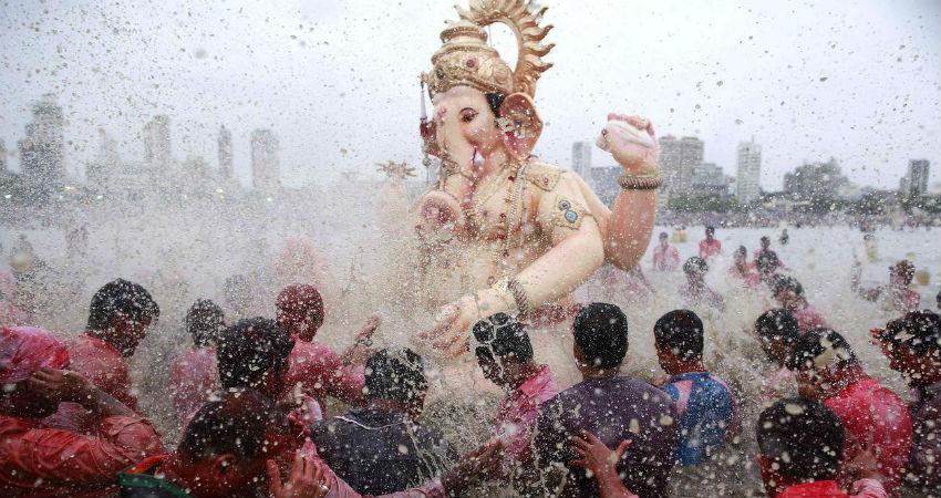 Mumbai Ganpati visarjan
