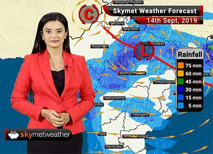 Weather Forecast Sep 14: Moderate rains likely over Gwalior, Guna, Kota, Bundi, Lucknow, Sultanpur