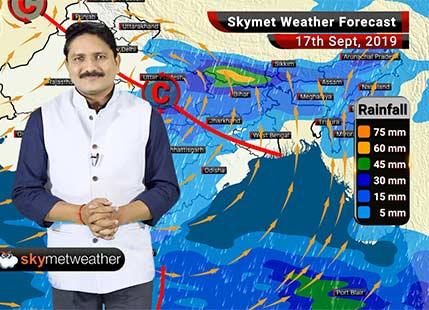 17 सितम्बर का मौसम: लखनऊ, वाराणसी, पटना में अच्छी वर्षा, दिल्ली में मुख्यतः शुष्क मौसम