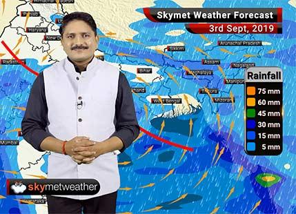 3 सितम्बर का मौसम पूर्वानुमान: मध्य प्रदेश, छत्तीसगढ़, झारखंड और ओड़ीशा में तेज़ वर्षा के आसार