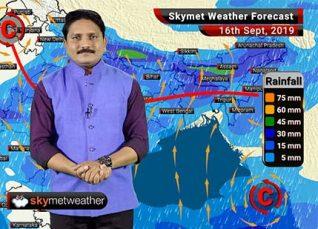 16 सितम्बर का मौसम पूर्वानुमान: उत्तर प्रदेश, मध्य प्रदेश और बिहार में मूसलाधार मॉनसून वर्षा