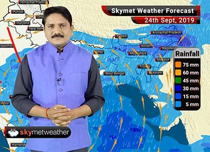 24 सितम्बर का मौसम: छत्तीसगढ़, विदर्भ, मध्य महाराष्ट्र और मराठवाड़ा में भारी वर्षा के आसार