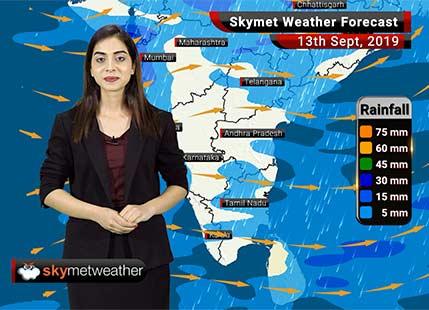 Weather Forecast Sep 13: Good rains in Madhya Pradesh, Coastal Karnataka, Bihar, light rain in Chennai, Hyderabad