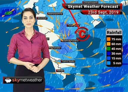 Weather Forecast Sept 23: Rains likely in Hyderabad, Chennai and Bengaluru, heavy showers in Bihar, Odisha