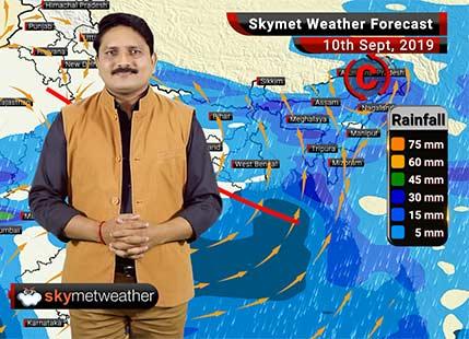 10 सितम्बर का मौसम पूर्वानुमान: मध्य प्रदेश व गुजरात में भारी वर्षा