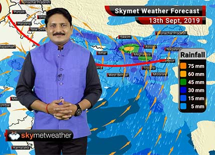 Weather Forecast Sept 13: Active Monsoon conditions over Uttar Pradesh, Madhya Pradesh and east India