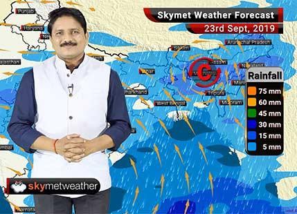 23 सितम्बर का मौसम पूर्वानुमान: नागपुर, रायपुर, अहमदाबाद, सूरत में अच्छी बारिश, मुंबई व दिल्ली में बढ़ेगी गर्मी