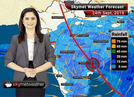 हवामान अंदाज 24 सप्टेंबर: विदर्भ, मध्य महाराष्ट्र आणि मराठवाड्यात पावसाची शक्यत