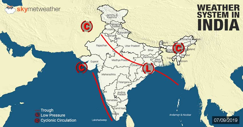 Weather Forecast for September 8 Across India | Skymet