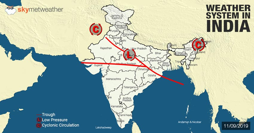 Hindi] Weather forecast for September 12, across India