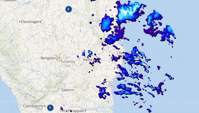 Live lightning and thunderstorm report across India