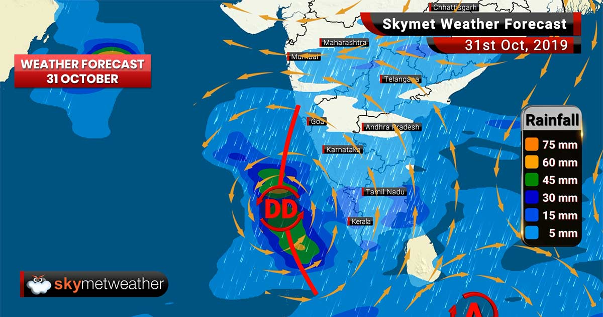 Weather Forecast Oct 31: Hefty rains, rough sea to impact Mangalore, Kochi, Alappuzha, Minicoy