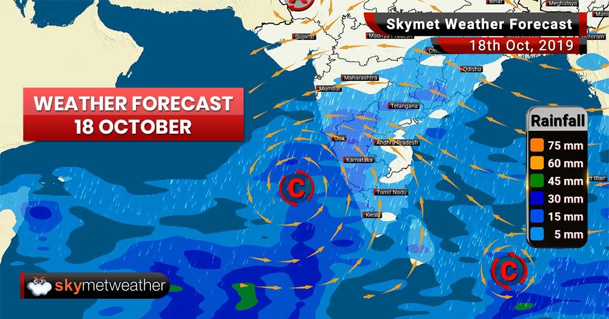 Weather Forecast Oct 18: Good rains ahead for Mumbai, Chennai, Bengaluru, Hyderabad, Kochi