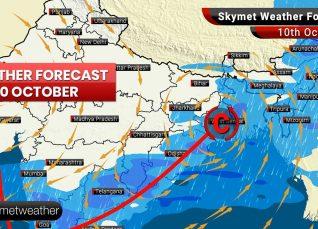 Weather Forecast Oct 10: Retreating of Monsoon commences from Northwest Plains, thunderstorm in Kolkata, Ranchi