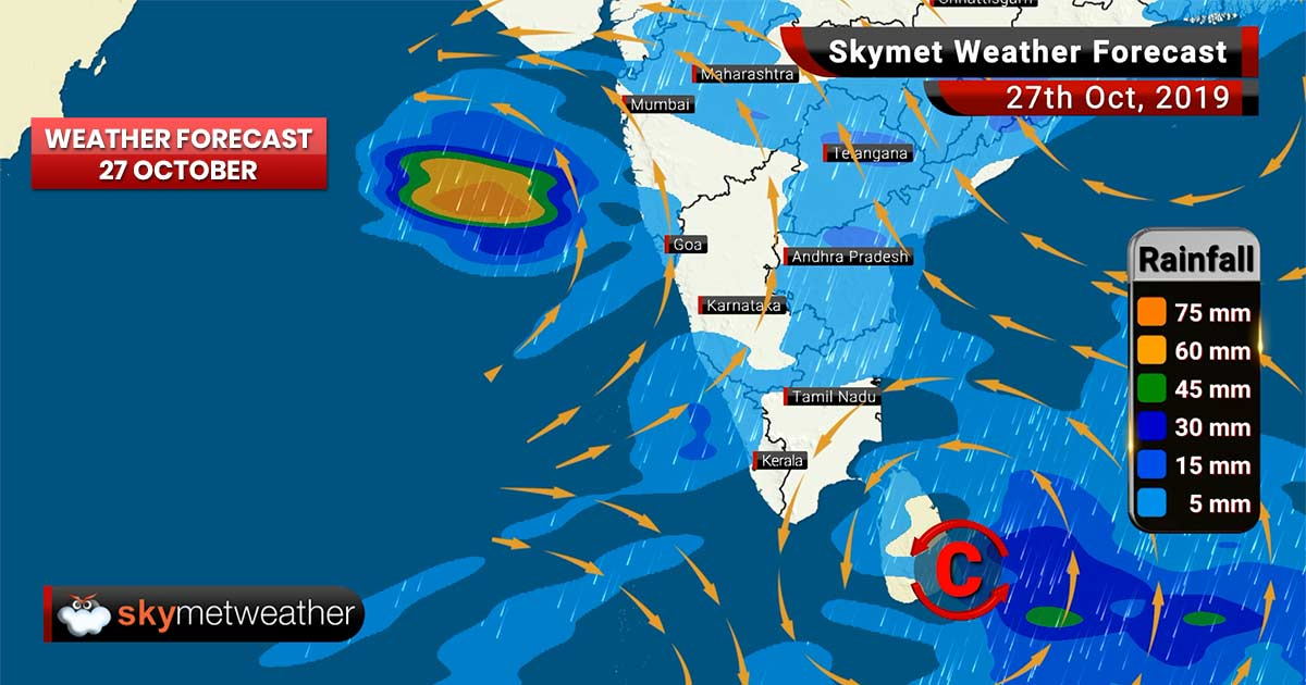 Weather Forecast Oct 27: Storm Kyarr head towards Oman, squally weather along Konkan, Gujarat coast