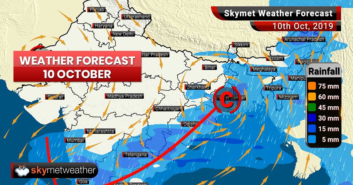Weather Forecast Oct 10: Retreating of Monsoon commences from Northwest Plains, thunderstorm in Kolkata, Ranchi