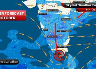 Weather Forecast Oct 5: Thunderstorm likely over Odisha, WB with rain over Kerala, Karnataka, TN