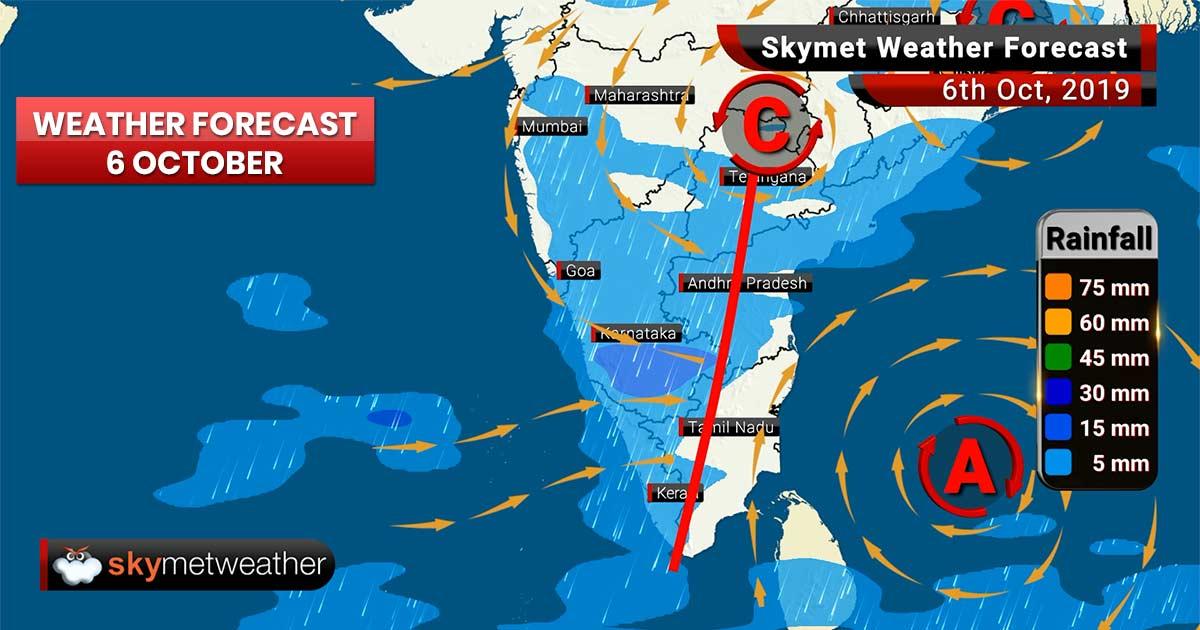 Weather Forecast Oct 6: Heavy rain likely in Pune, Mahabaleshwar, moderate showers over Bengaluru
