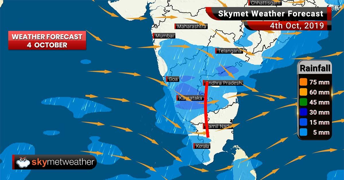 Weather Forecast Oct 4: Patna, Gaya, Bengaluru to witness moderate rain, with light rain in Kolkata