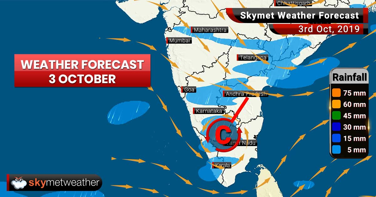 Weather Forecast Oct 3: Temperature in Delhi to rise, moderate rain likely in Patna, Gaya, Bengaluru, Kozhikode, Kannur
