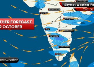 Weather Forecast Oct 2: Moderate rain in Prayagraj, Varanasi with Patna, Kolkata and Ranchi to see nearly dry weather